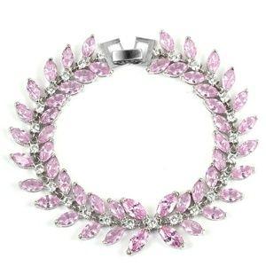 Jewelry - Pink Sapphire & White Diamond (simulated) bracelet